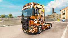 Tiger skin for the truck Scania R700