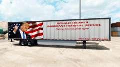 Skin Trump on the trailer for American Truck Simulator