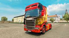 Skin Manchester United for tractor Scania for Euro Truck Simulator 2