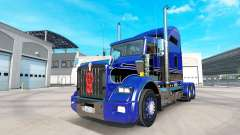Skin Blue-black on the truck Kenworth T800