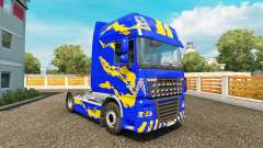 Skin Blue-yellow-for DAF truck