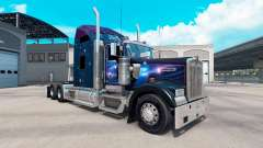 Skin Falling Star on the truck Kenworth W900 for American Truck Simulator