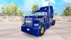 Skin Blue-gray on the truck Peterbilt 389