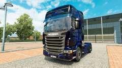 Skin Blue Smoke on tractor Scania