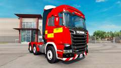 Skin for Fire Truck tractor Scania R730