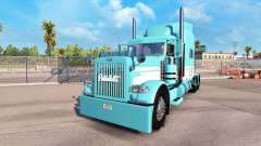 Skin Blue-White for the truck Peterbilt 389