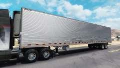 Chromed reefer trailer for American Truck Simulator