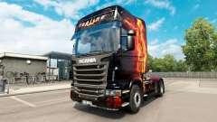 Fire Girl skin for Scania truck