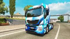 Skin Blue Abstract Iveco for the truck
