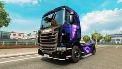 The Black and Purple skin for Scania truck