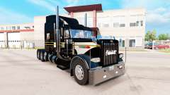 Skin Silver-black for the truck Peterbilt 389