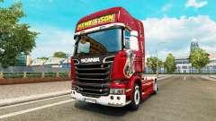 Skin Hawk Edition tractor Scania for Euro Truck Simulator 2