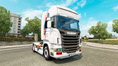 A skin of Superman for Scania truck