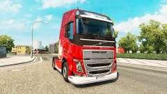 Merry Christmas skin for Volvo truck for Euro Truck Simulator 2