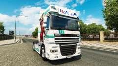 Collin IronMan skin for DAF truck for Euro Truck Simulator 2