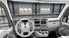 White Kenworth T680 interior