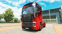 Skin Black & Red for tractor Scania R700