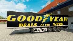 Skin Goodyear on the trailer for Euro Truck Simulator 2