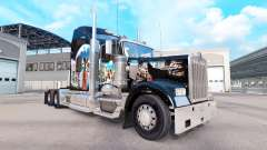 Skin Indian on the truck Kenworth W900
