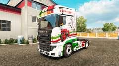 Ferrari skin for Scania R700 truck