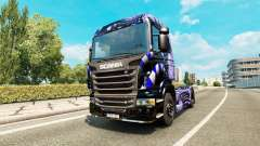 Blue Ladder skin for Scania truck