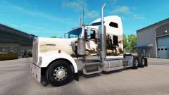 Skin Knights on the truck Kenworth W900