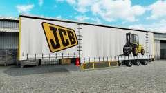 Curtain semitrailer Krone JCB for Euro Truck Simulator 2