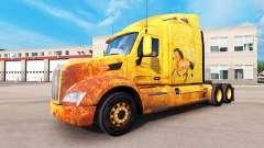 Western skin for the truck Peterbilt