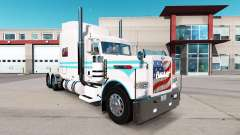 The Blue skin and white for the truck Peterbilt