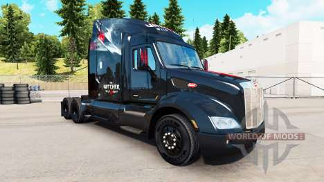 Skin The Witcher Wild Hunt on the tractor Peterb for American Truck Simulator