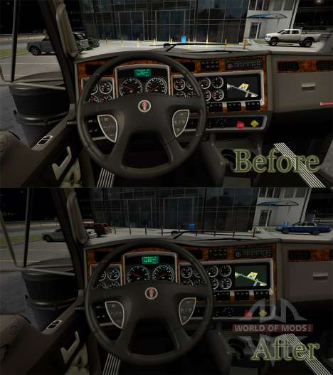 Instrument lighting color of sea water from KenW for American Truck Simulator