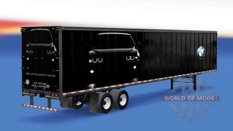 All-metal semitrailer BMW for American Truck Simulator