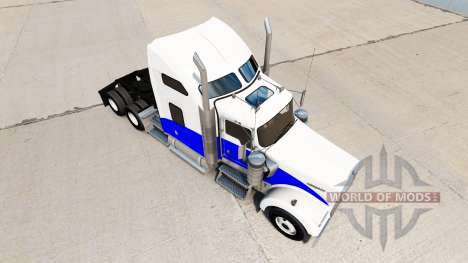 Blue Wave skin for the Kenworth W900 tractor for American Truck Simulator