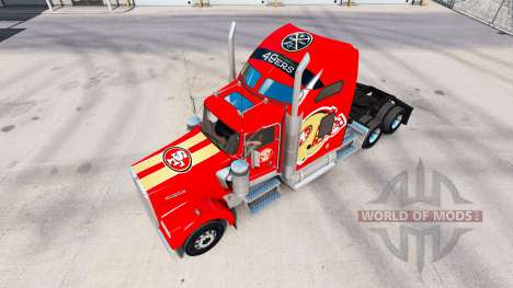The skin San Francisco 49ers on tractors and Pet for American Truck Simulator
