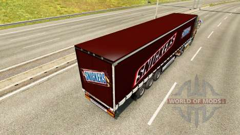 Skin Snickers on the trailer for Euro Truck Simulator 2