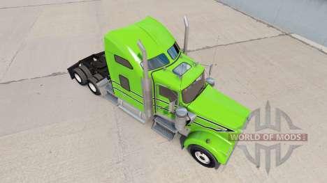 Skin Black-white stripes on the truck Kenworth W for American Truck Simulator