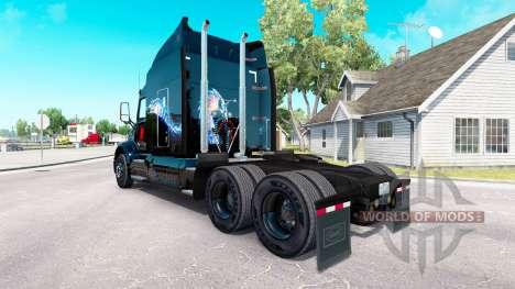 Skin Bitdefender tractor Peterbilt for American Truck Simulator