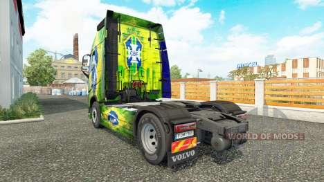 Skin Brasil at Volvo trucks for Euro Truck Simulator 2