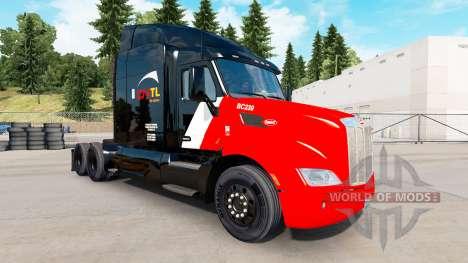 Skin CN Transportation on tractors and Pet Ken for American Truck Simulator