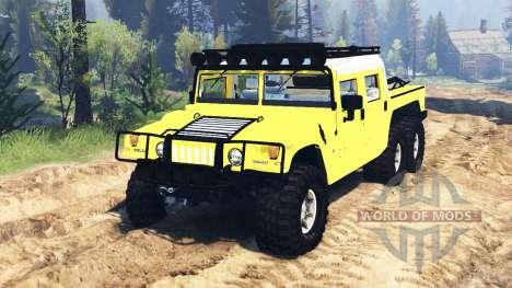Hummer H1 6x6 Raptor for Spin Tires