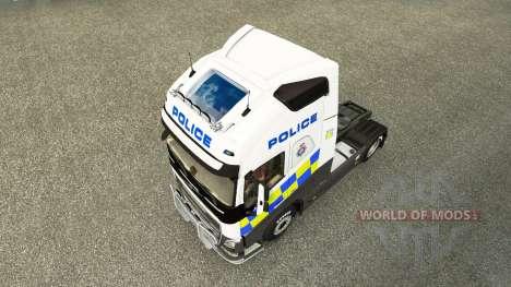 Police skin for Volvo truck for Euro Truck Simulator 2