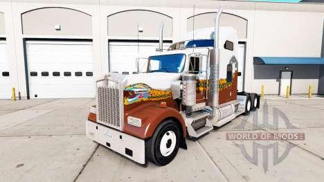 Skin Hatd Truck on truck Kenworth W900 for American Truck Simulator