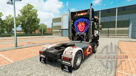 Skin Scania Black for tractor Scania for Euro Truck Simulator 2