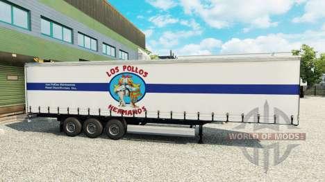 Skin Los Pollos Hermanos on the trailer for Euro Truck Simulator 2