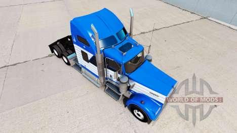 Skin Blanch Transport on truck Kenworth W900 for American Truck Simulator