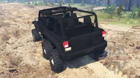 Jeep Wrangler 6x6 Turbo for Spin Tires