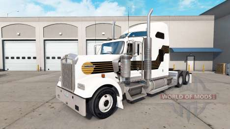Skin Black and Gold on the truck Kenworth W900 for American Truck Simulator