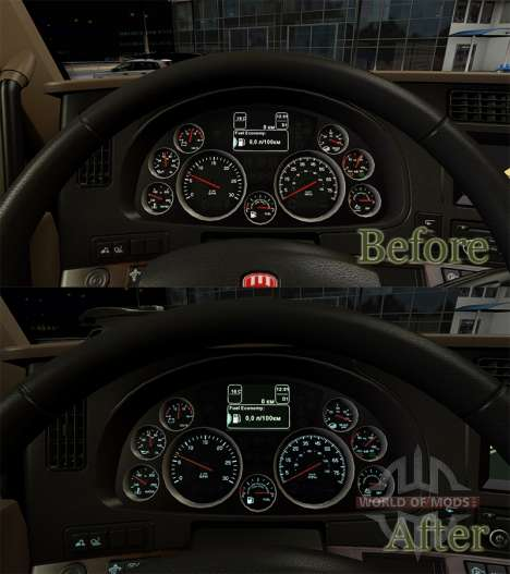 Instrument lighting color of sea water from KenT for American Truck Simulator