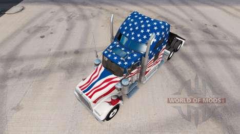 Skin USA truck Kenworth W900 for American Truck Simulator