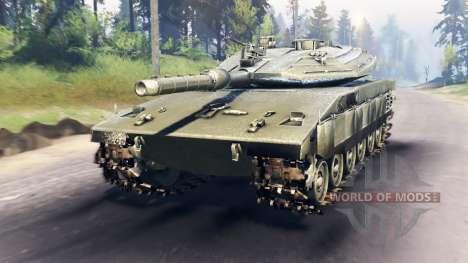 Merkava Mk.4 for Spin Tires